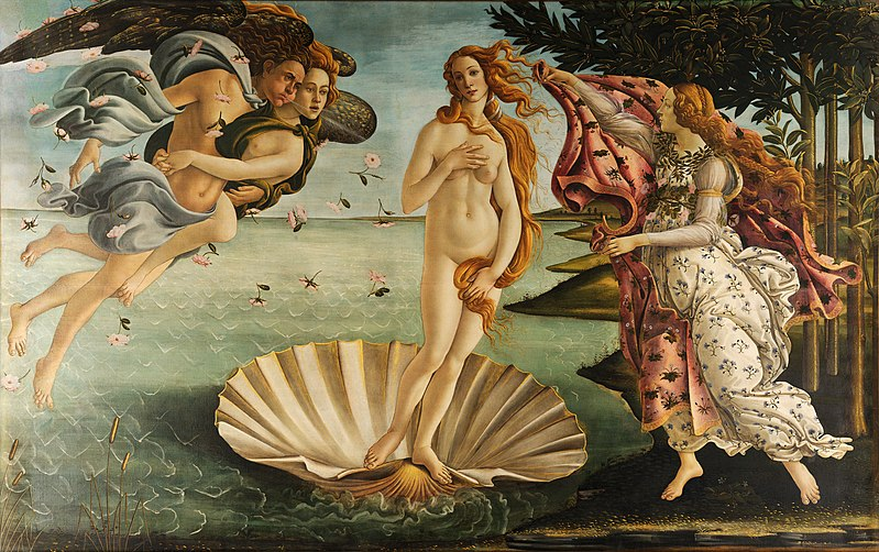 "alt=""Birth of Venus by Sandro Botticelli"""