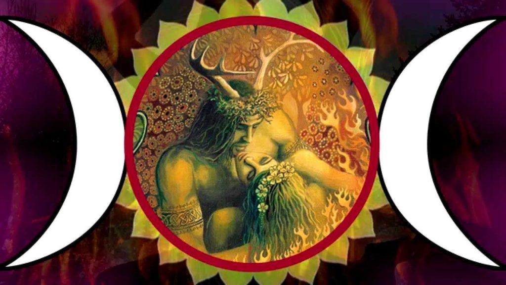 """alt=""""beltane night: Jack in the Green with the May Queen"""""""