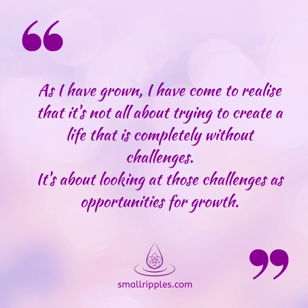 "alt=""spiritual quote: it's about looking at challenges as opportunities for growth"""
