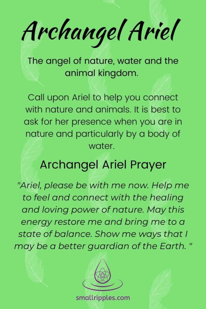 """alt=""""archangel Ariel prayer"""""""