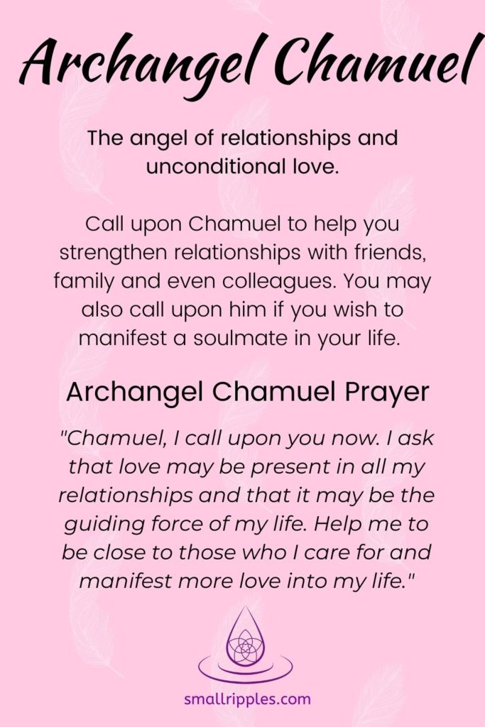 "alt=""archangel Chamuel prayer"""
