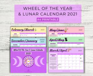 Wheel of the Year & Lunar Calendar 2021