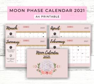 Moon Phase Calendar 2021