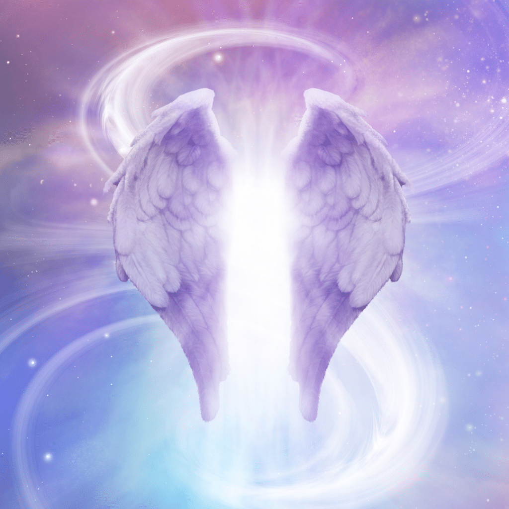 Angel wings depicting ascension